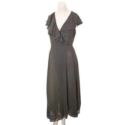 DKNY Polka Dot Wraparound Dress