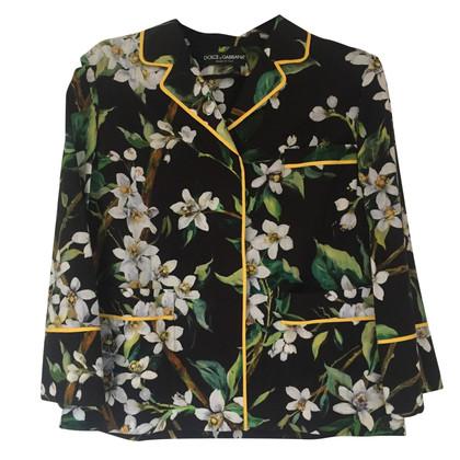 Dolce & Gabbana Floral Pyjama Style Shirt