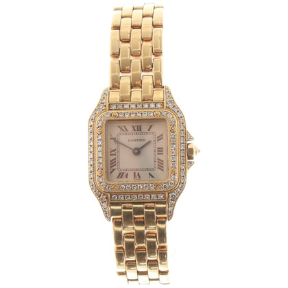 "Cartier Yellow gold ""Panthere"" watch with diamonds"