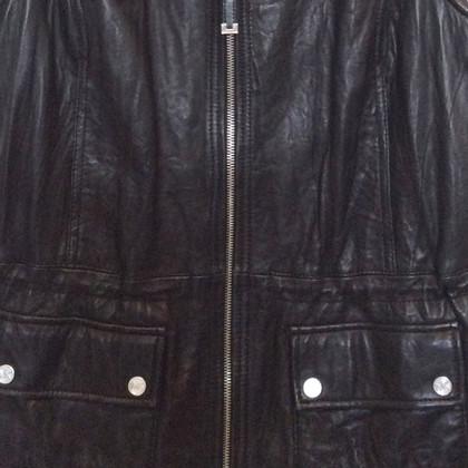 Michael Kors Mouwloze leren jas
