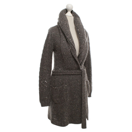 Bruno Manetti Knitted coat with sequins