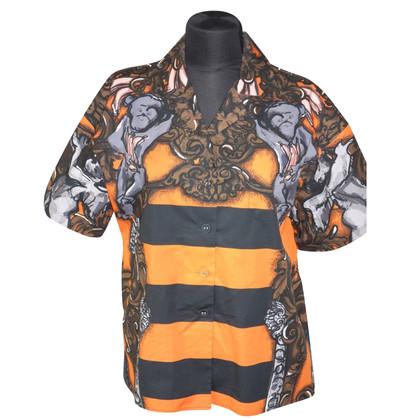 Prada Oversized short sleeve blouse with print