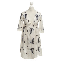 Odd Molly Wrap dress with floral embroidery