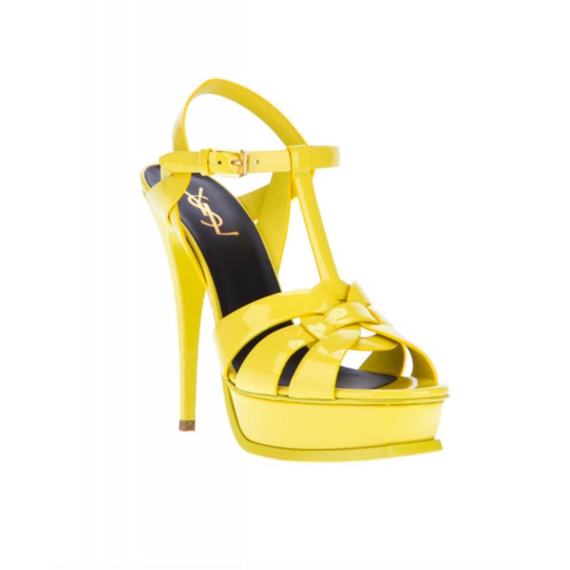 """Yves Saint Laurent """"Tribute"""" Ellow Sandals"""