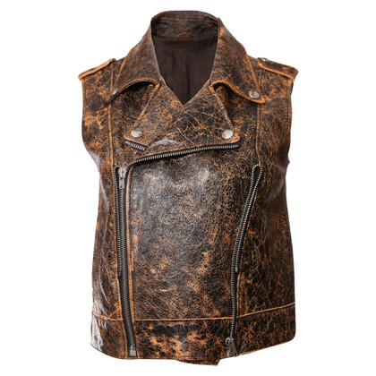 Acne leather vest