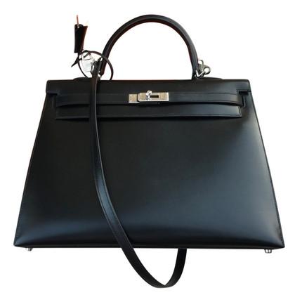 Hermès KELLY SELLIER 35 BLACK BOX FULL SET