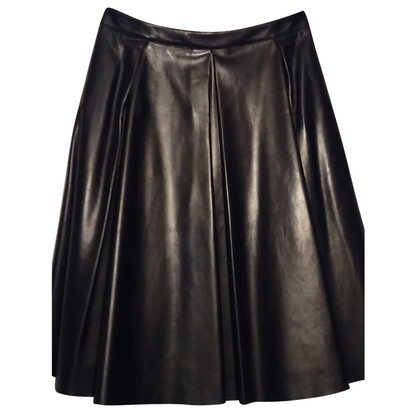 Burberry leather skirt