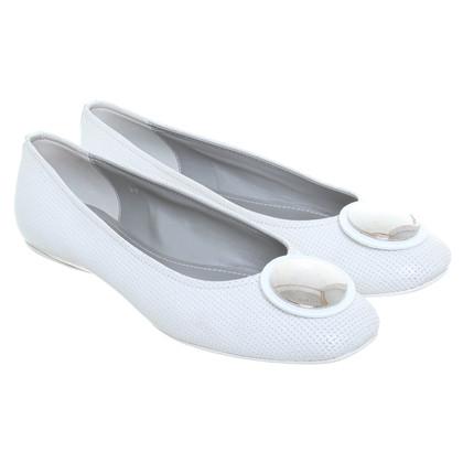 Hogan Ballerinas in white