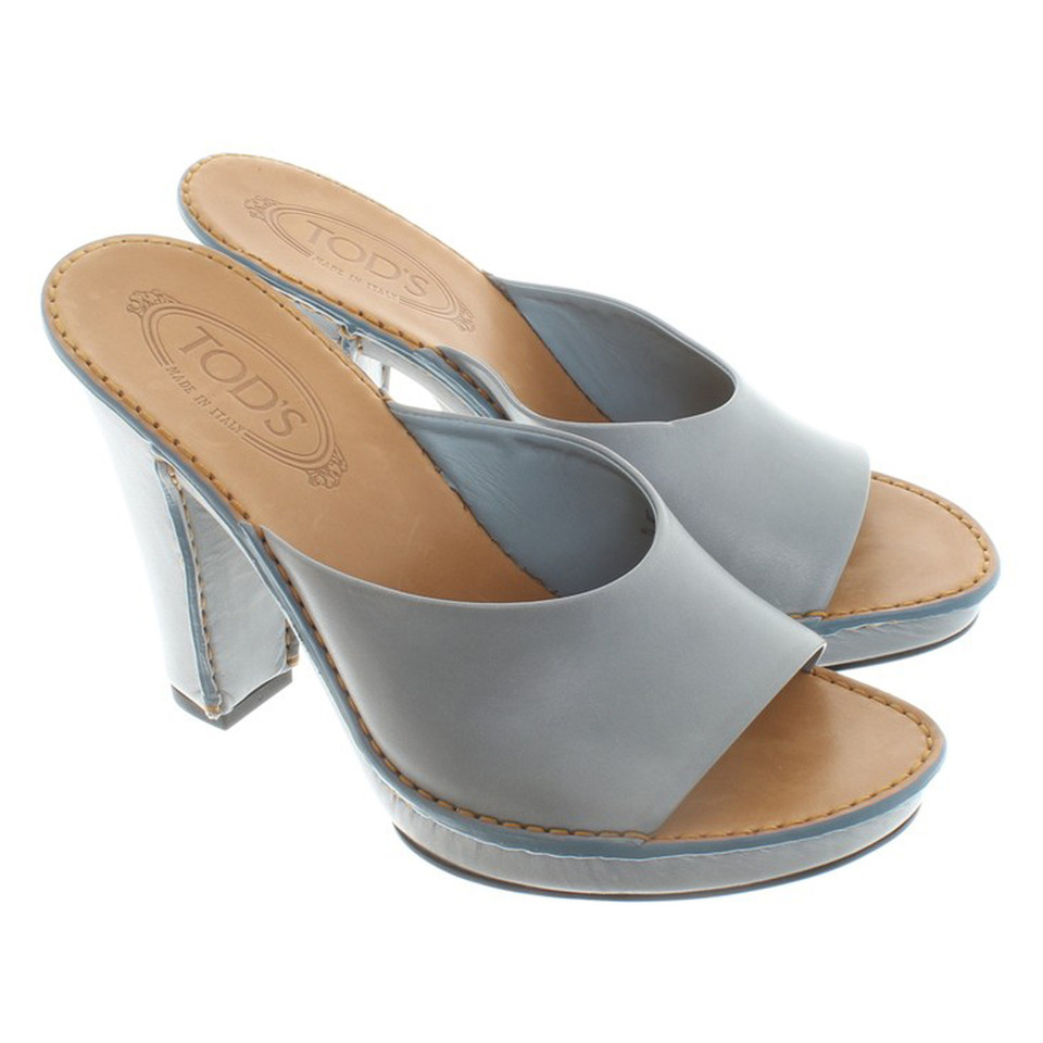 Tod's Mules in grey / brown