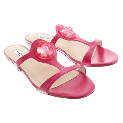 L.K. Bennett Sandalen aus Leder in Pink