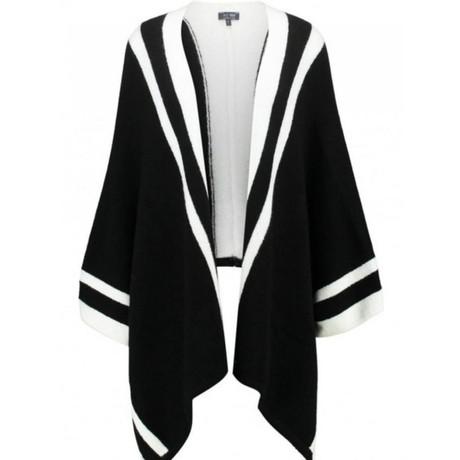 Armani Jeans Poncho in Bicolor Schwarz / Weiß