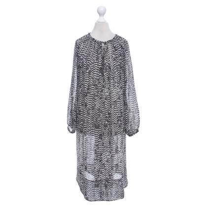 Isabel Marant for H&M zijden jurk met patroon