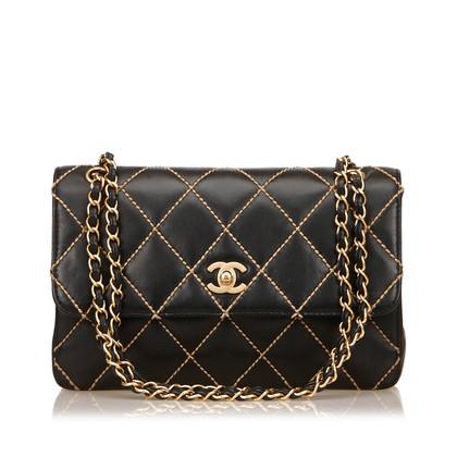 "Chanel ""Surpique Flap Bag Medium"""