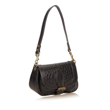 Mulberry Embossed Leather Handbag