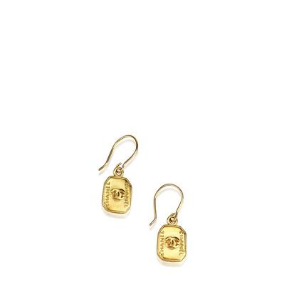 Chanel CC Drop Earrings