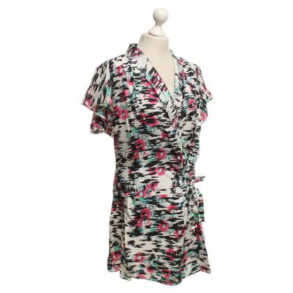 Balenciaga Seidenkleid mit floralem Muster