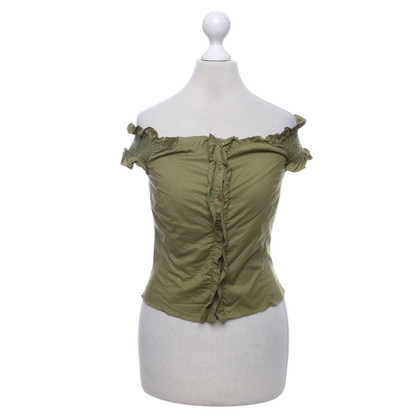 Philosophy di Alberta Ferretti Short top in olive green