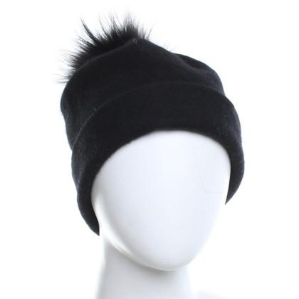 Marc Cain Wollen cap in zwart
