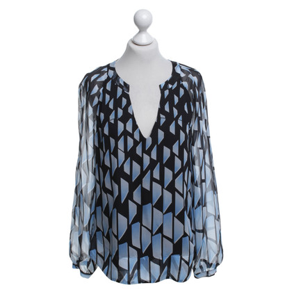 "Diane von Furstenberg top ""Maiko"" made of chiffon"