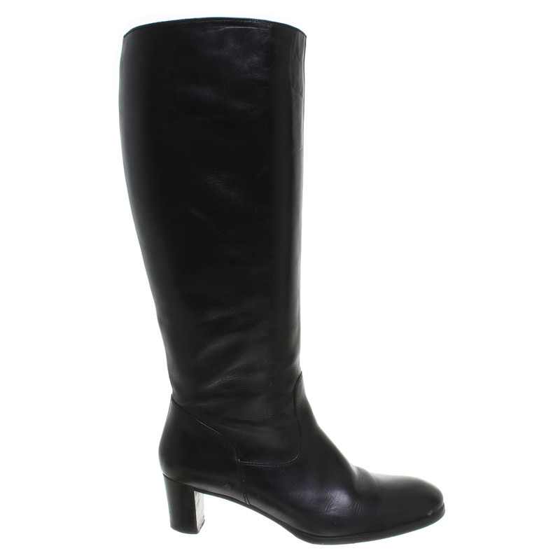 other designer black leather boots buy second other