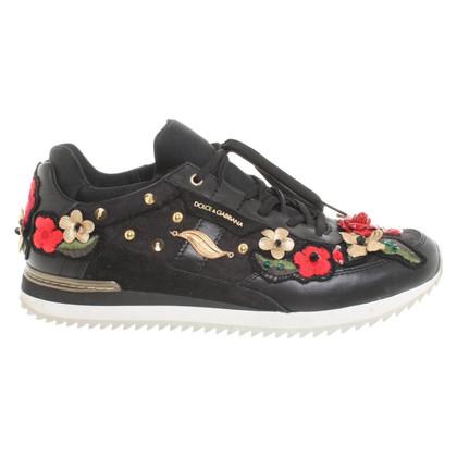 Dolce & Gabbana Scarpe da ginnastica con applicazioni floreali