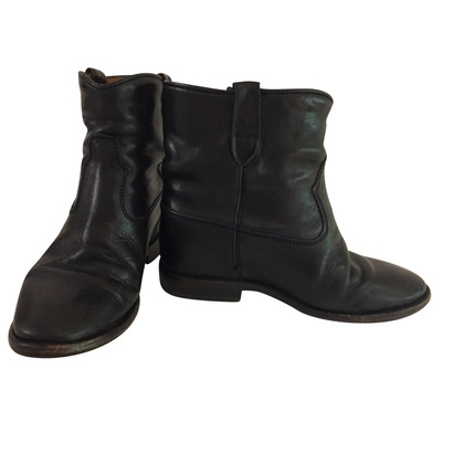 Isabel Marant Cluster Leather Wedge Boots