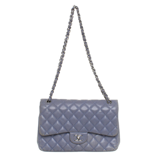 2f793f14939a Chanel Classic Flap Bag Leather in Violet - Second Hand Chanel ...