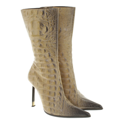 Gianmarco Lorenzi Boots in reptiel optica