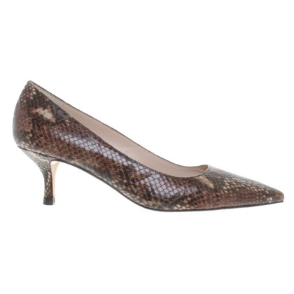 L.K. Bennett pumps embossed leather