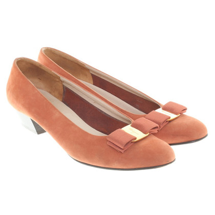 Salvatore Ferragamo Ballerine a Orange