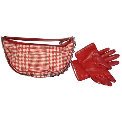Versace Handbag & gloves