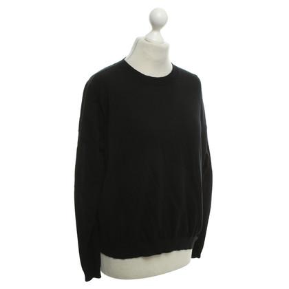 Acne Sweater in black / blue