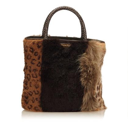 Christian Dior Tote Bag con pelliccia