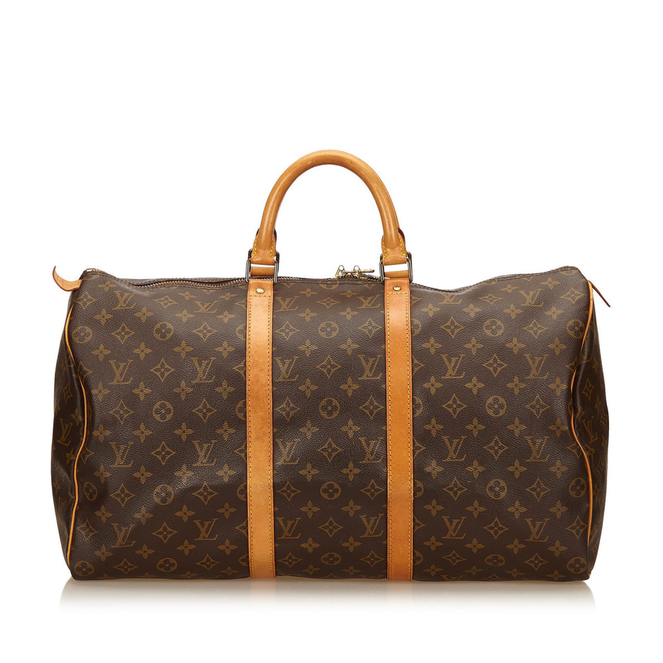 louis vuitton keepall 45 monogram canvas second hand louis vuitton keepall 45 monogram. Black Bedroom Furniture Sets. Home Design Ideas