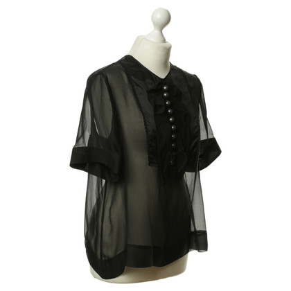 Stella McCartney Semi transparent blouse in black