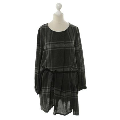 Woolrich Graues Kleid mit Karomuster
