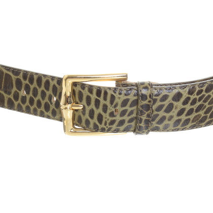 Longchamp Belt with crocodile embossing