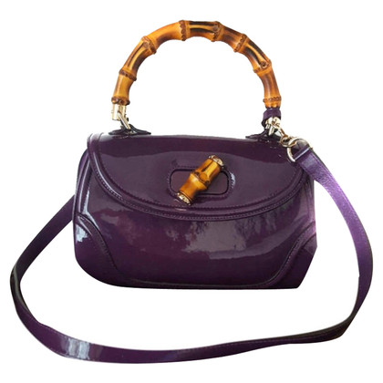 """Gucci """"Bamboo bag"""" in patent leather"""