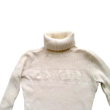 DKNY Roll collar sweater in white