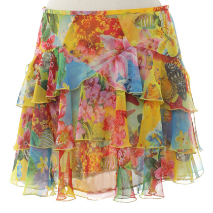 Escada colorful skirt with floral print