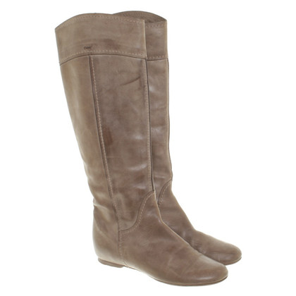 Chloé Boots in Taupe