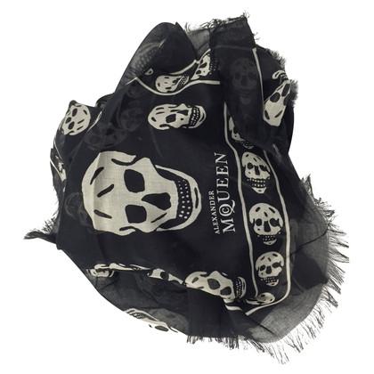 Alexander McQueen Zwarte schedel sjaal