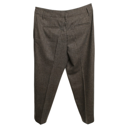 Brunello Cucinelli pantaloni a quadri a Brown