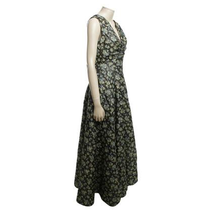 Talbot Runhof Abendkleid mit glänzendem Muster