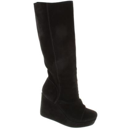 Pedro Garcia Suede Boots in Black