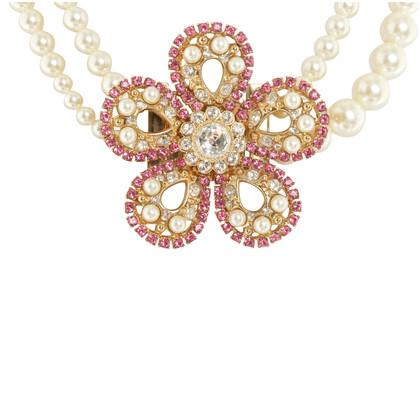 Miu Miu Catena con gioielli di perle