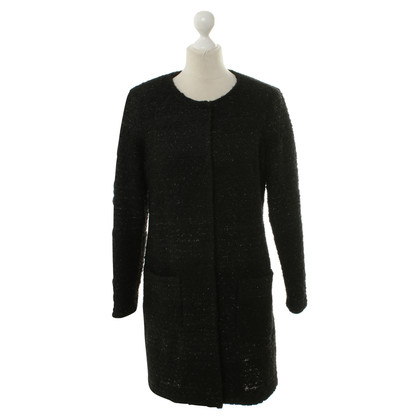 Piu & Piu Knitted coat in black