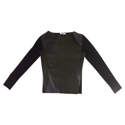 DKNY cuir cardigan