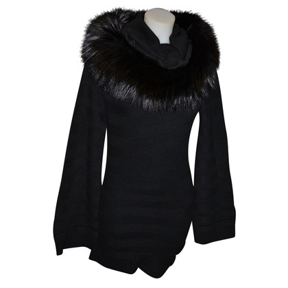 Hermès Cashmere dress with fur collar