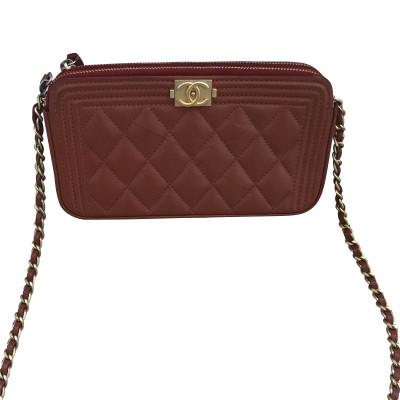 f0201eefd30a Chanel Shoulder bag Leather in Orange